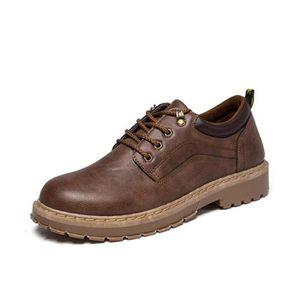 d75476ff29 BOTTINE Bottine Homme Boots Marron Chaussures en Cuir Chau