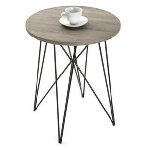 TABLE BASSE TABLE BASSE ROUND BOIS METAL RONDE