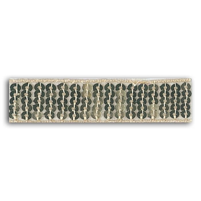 MLLE TOGA Ruban de sequins thermocollant - 2,4 x 130 cm - or