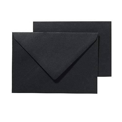 PANDURO Pack Basic cartes et enveloppes A6/C6 Noir - 10 cartes pré-pliées (105x148), poids 240 g - 10 enveloppes