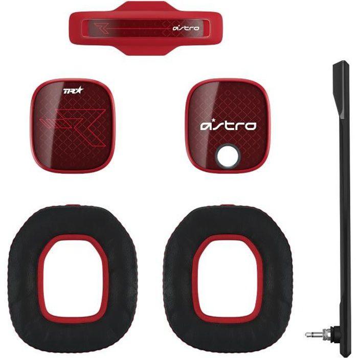 CASQUE MICRO JEUX VIDÉO Isolateur de bruit pour casque A40 - Rouge