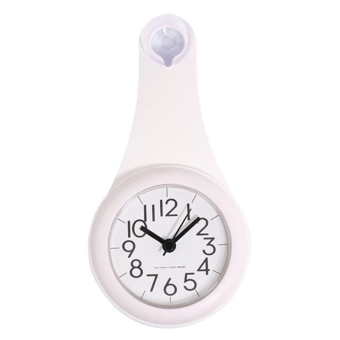 Horloge murale imperméable de salle de bains de ménage silencieux ...