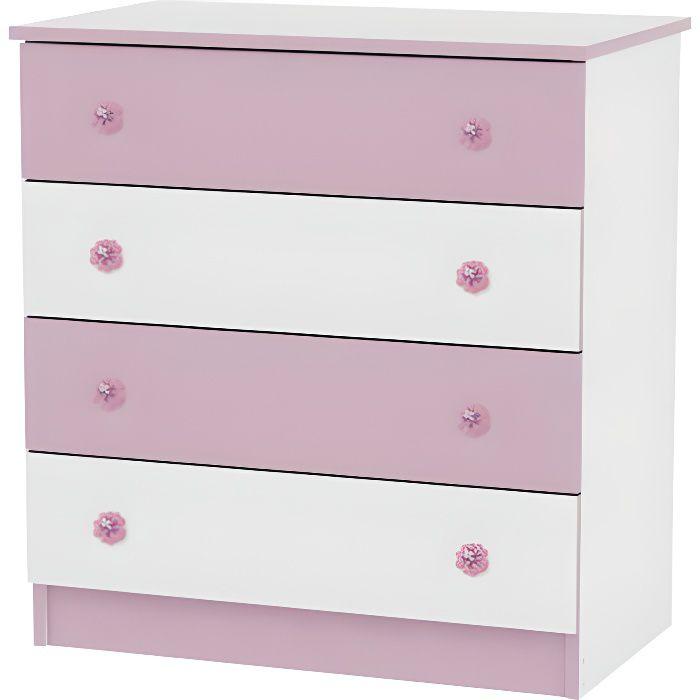 commode chambre bébé / enfant lorelli rose - achat / vente commode