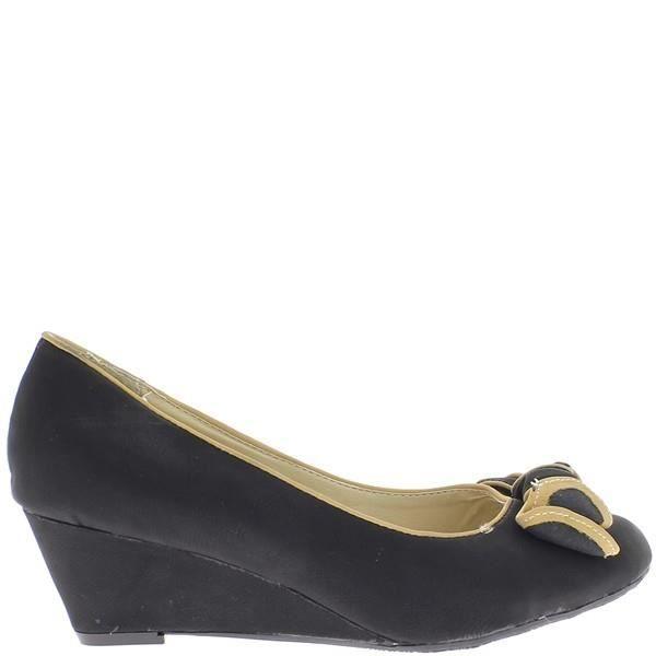 89d29f01538126 Compensées femme noires à talon … Noir Noir - Achat / Vente escarpin ...