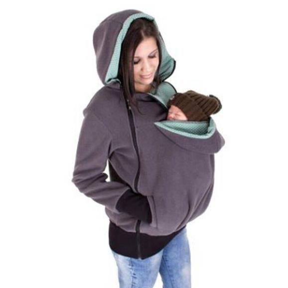 7e834da8f3d Porte-bébé Veste Kangaroo Manteau Chaude maternité Pull pour ...