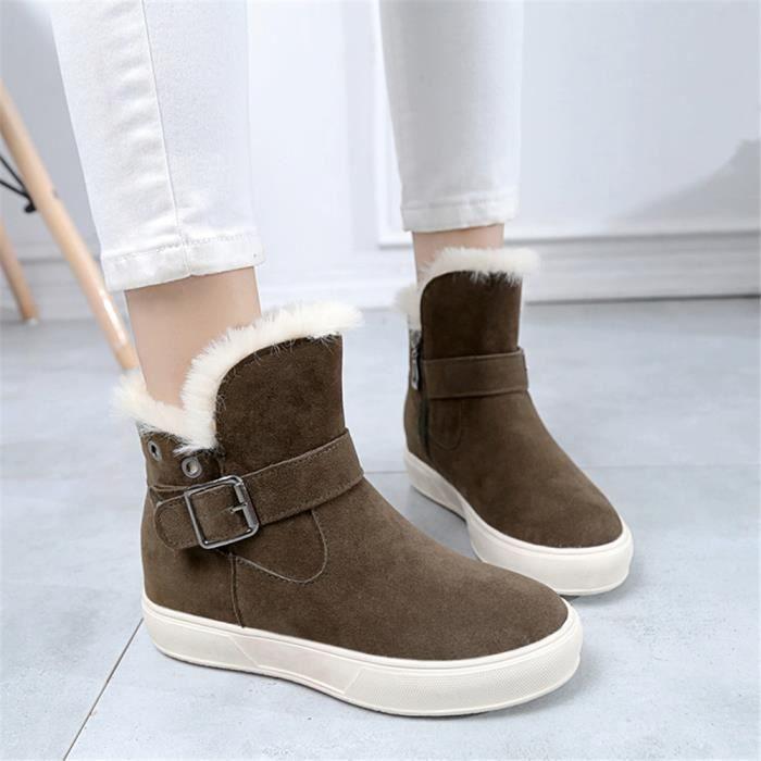 de SupéRieure 35 neige en éLastique Confortable Plus Chaussures de Bottines Qualité 39 Hiver laine doublure Femmes Taille Chaud gxXdHgq