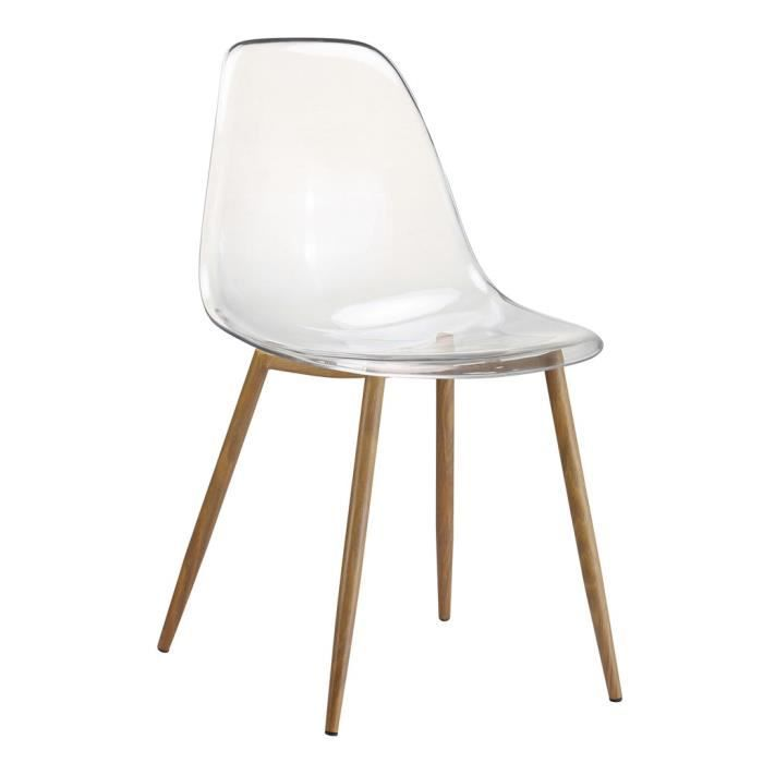 CHAISE TRACY Chaise Translucide Transparente 52X46XH84CM