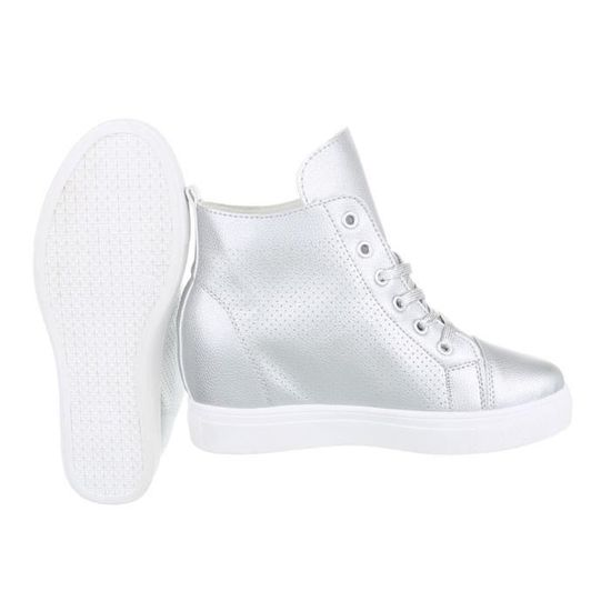 Chaussures femme chaussures sportsemelle compenséeSneakers argent 41 OBlY0aoV