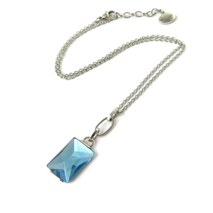Altesse [M7207] - Collier acier Calypso bleu
