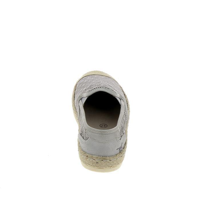 Chaussure de ville MUSTANG Espadrilles 1245203 Gris Kaki