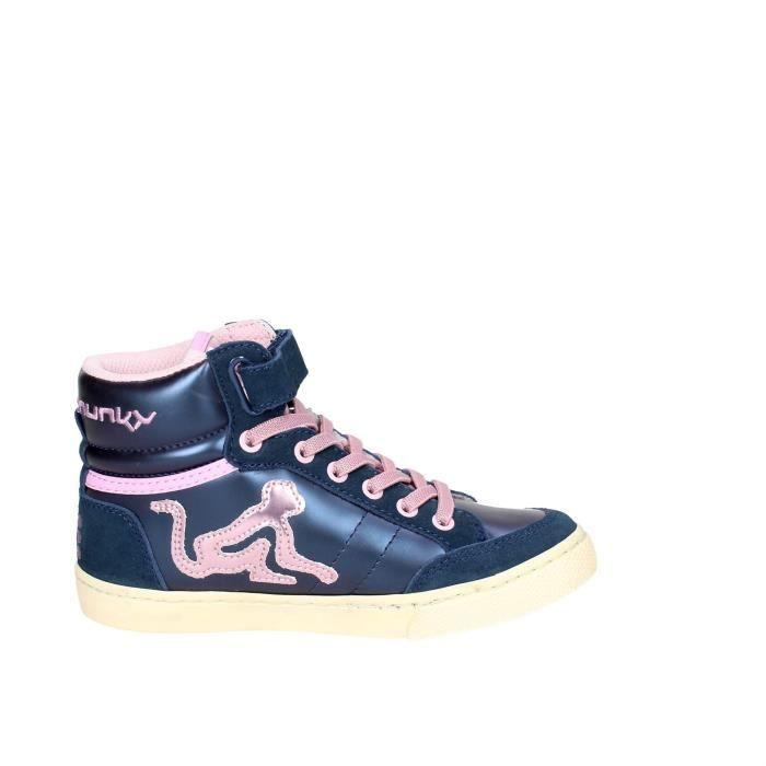 Drunknmunky Haute Sneakers Fille Bleu, 38