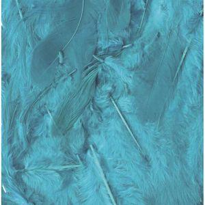 Plume de déco Plumes Ébouriffées Bleu turquoise 10g - Artémio a1a01457b1f