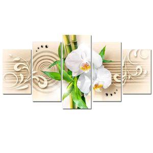 TABLEAU - TOILE Tableau Orchids, babmbus and zen Nature Fleurs Pla