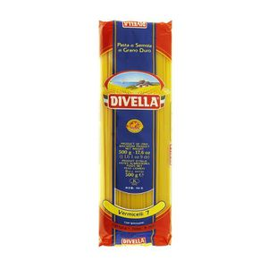 PÂTES ALIMENTAIRES DIVELLA vermicelli 7 cooking time 10 minutes 500 g