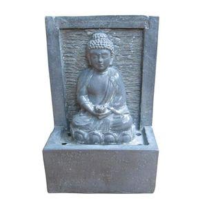 FONTAINE INTÉRIEURE HOMEA Fontaine Bouddha 15x9,5xH23,5 cm gris