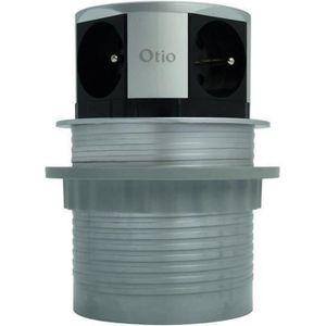 MULTIPRISE OTIO Bloc escamotable compact multiprise 4 prises