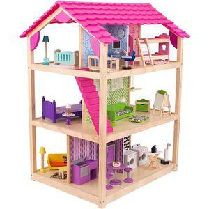 MAISON POUPÉE KIDKRAFT Maison de poupées So Chic + 50 pièces en