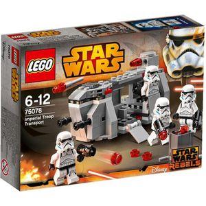 ASSEMBLAGE CONSTRUCTION LEGO Star Wars 75078 Transport de l'Armée impérial