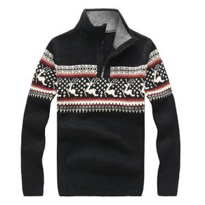 7b51f832851 PULL Laine Pull Homme de Noël Slim Fit Pullover Homme d