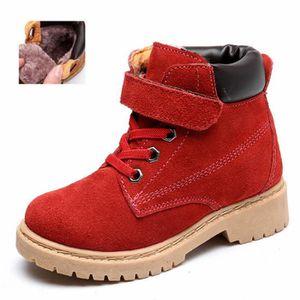 Populaire Hiver boots Enfants Pour Garçon Fille Martin Boots Gommage HZ-209marron31 0hFOFra