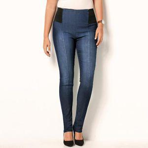 LEGGING Tregging en jean élastiques à la taille femme