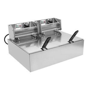 FRITEUSE ELECTRIQUE Friteuse électrique professionnelle 2x10 litres -