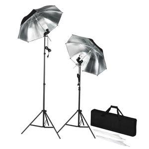KIT STUDIO PHOTO Kit de studio photo lampes flash pieds et paraplui