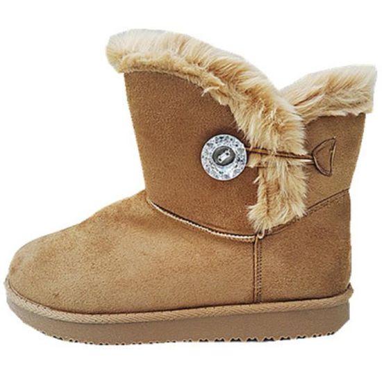 c49eef3f6ae2 Boots Femme Botte Jr911 Fur Fille Fashionfolie888 Bottine Talon Plat  Fourrées Camel Chaussure Ow4nAq