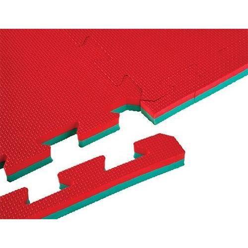 Tapis à pièces de puzzle - Epaisseur 2 cm - S'utilise des deux côtés - Rouge/VertTAPIS DE SOL - TAPIS DE GYM - TAPIS DE YOGA