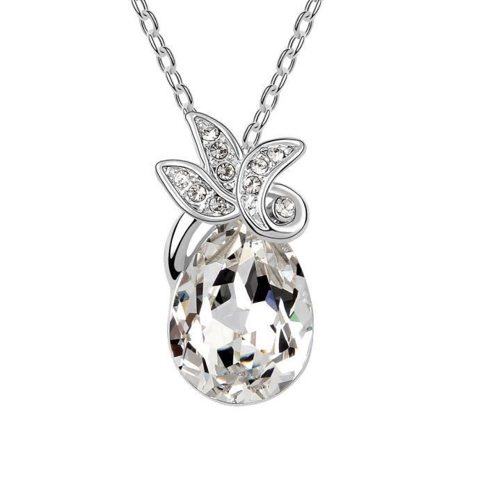 Cristaux Swarovski et Preciosa Strass Collier diamant pendentif de femmes. Tous les jours - Tenues de soirée Fashio Y07RF