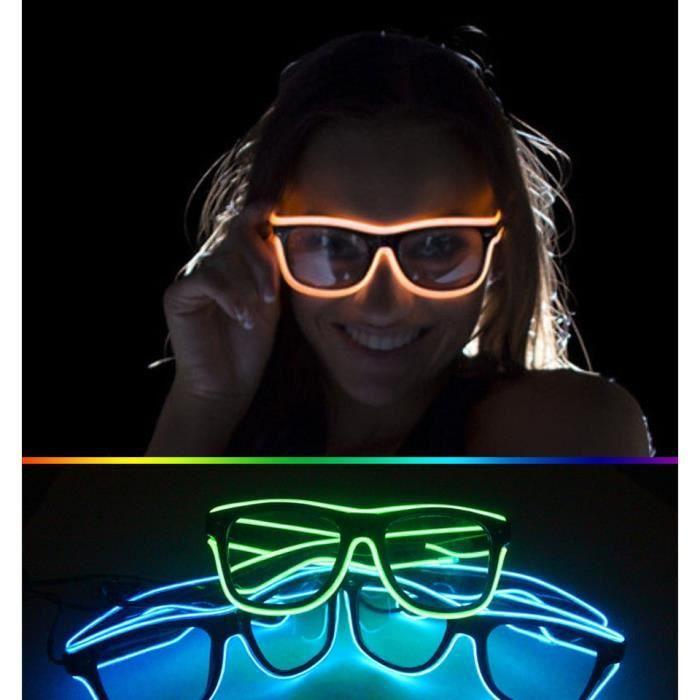 230 Lunettes soleils 3 Modes rapide clignotant El Led Party lumineux déclairage rougeoyants colorés Classic Toys pour Dj Lumière