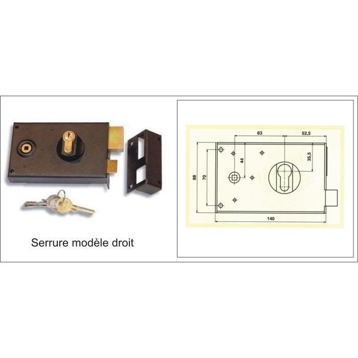 serrure en applique pour portails achat vente. Black Bedroom Furniture Sets. Home Design Ideas
