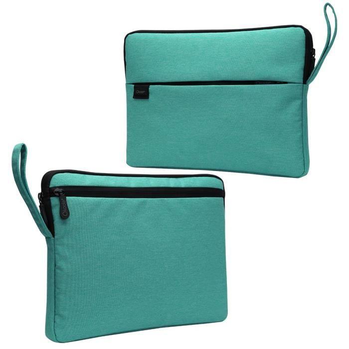 Laptop Imperméable inch Douce Tissu Doublure 15 Nylon Pu Pour 6 En Sacoche Vert Peluche 7wvInzq5q