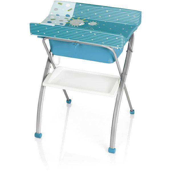 Table à Langer Avec Baignoire Lindo Turquoise Bleu Achat Vente