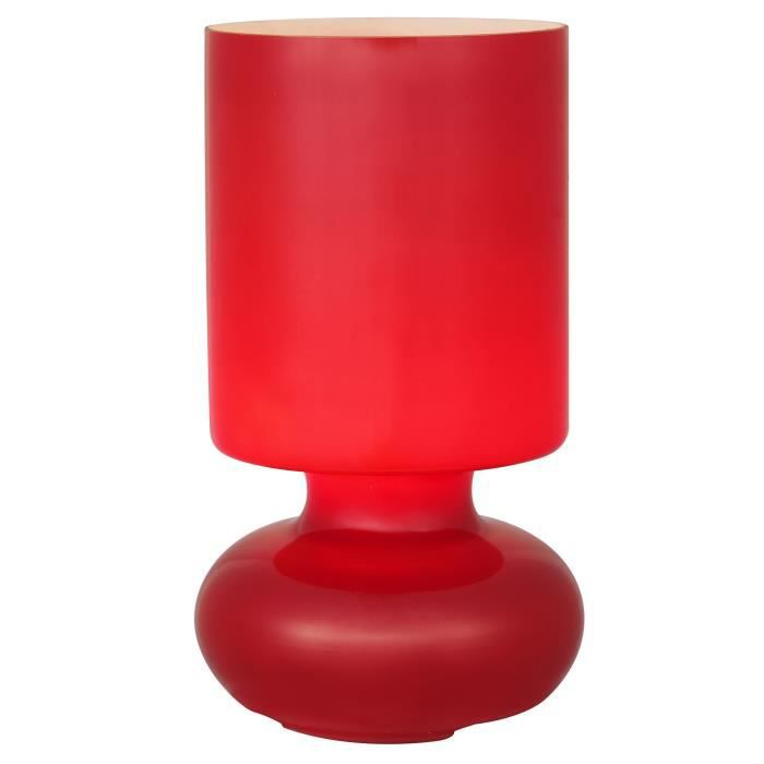 Rouge E14 À Brilliant Cm Ø13 Chevet Poser En 24 Fluerte Verre Hauteur Lampe 40w 8Ov0nwNymP
