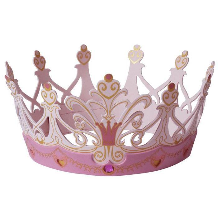 Liontouch couronne princesse large achat vente chapeau perruque cdiscount - Couronne princesse a decorer ...