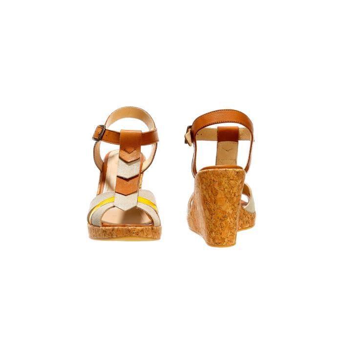 Sandales Compensees Schmoove Heroine Santa Citrus Cognac Femme