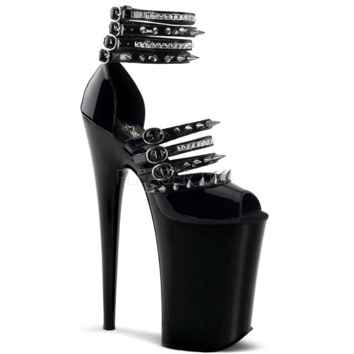 Pleaser INFINITY-935 9 Inch Heel, 5 1/4 Inch PF Multi Strap Close Back Sandal