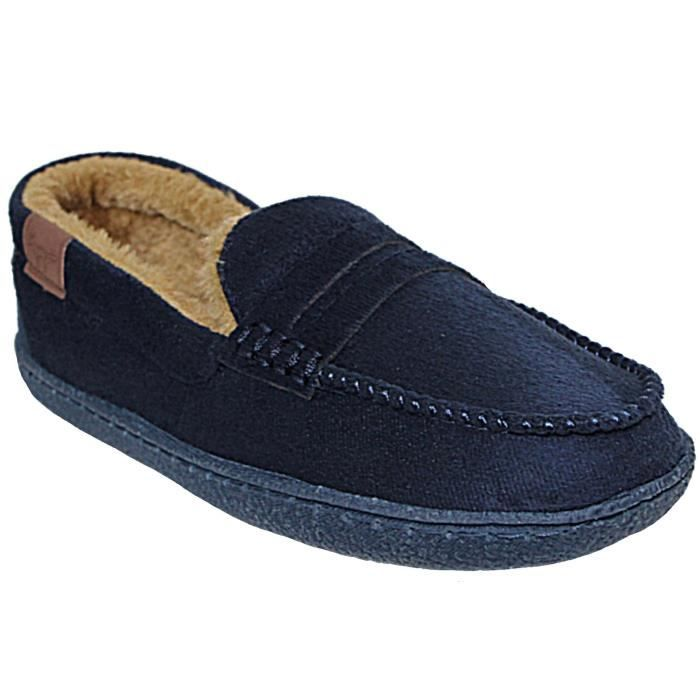 d827284ac26f0 Hommes Jo   Joe Faux Suede Slip On Textile Doublé Moccasin Chaussons  Chaussures Taille 7-12 3R6JUK Taille-40 1-2