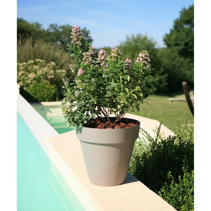 riviera pot soleilla diam tre 60 cm taupe achat vente jardini re pot fleur bac plastique. Black Bedroom Furniture Sets. Home Design Ideas