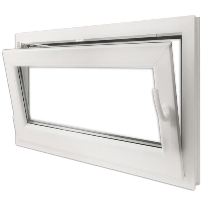 900x700mm Fenêtre Oscillo Battante Pvc Avec Double Vitrage Isolation