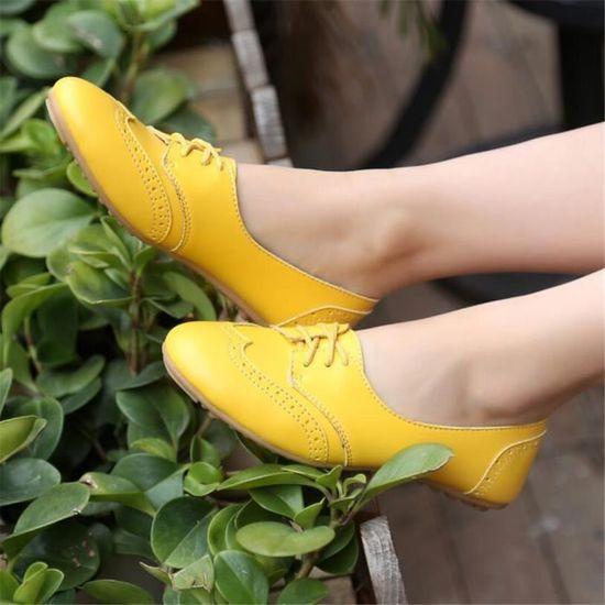 xz043noir35 Leger Bylg Occasionnelles Chaussure Cuir Chaussures Femmes 54RqAj3L