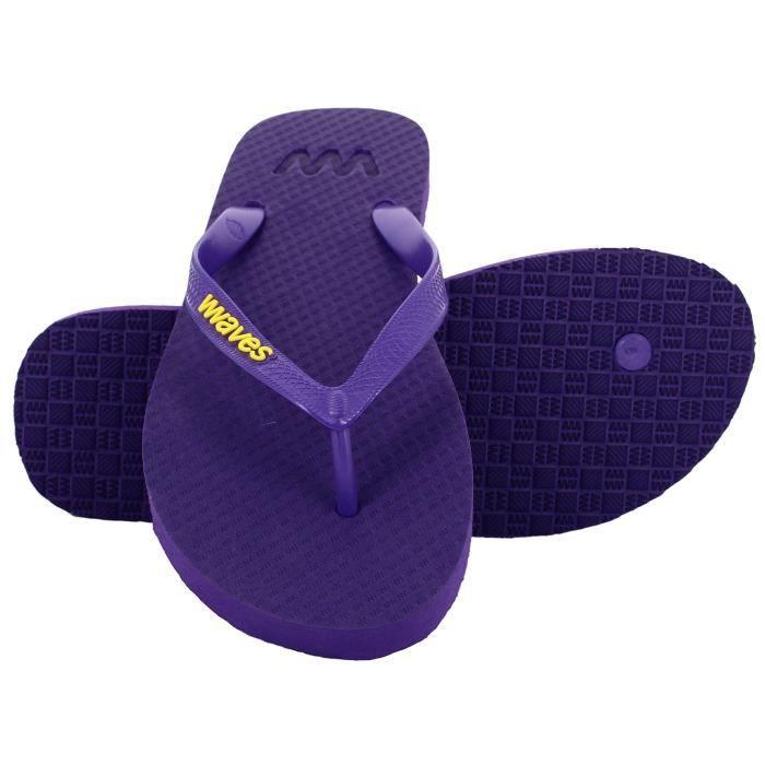 Waves 100% Flip Flops en caoutchouc naturel et unisexe pour Regular Fit Sandales Chaussons - Essentials IGGO4 Taille-37