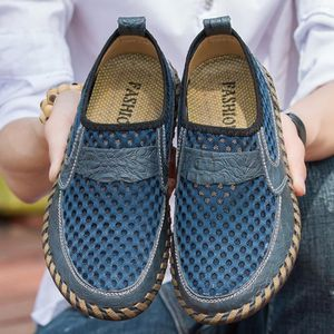 AEQUEEN Mocassin Maille PU Cuir Respirable Homme YhRSGBuQP