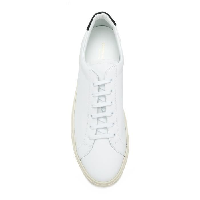 COMMON PROJECTS HOMME 21290547 BLANC CUIR BASKETS