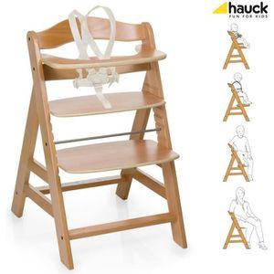 CHAISE HAUTE  HAUCK Chaise Haute en Bois Évolutive Alpha + / nat