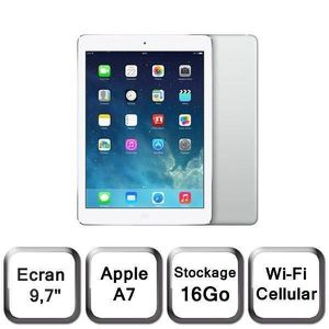 TABLETTE TACTILE iPad Air 4G + Wi-Fi Argent 16Go