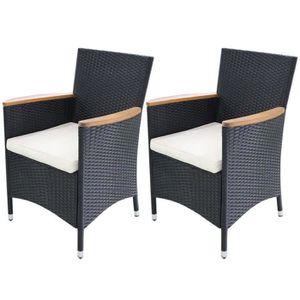 Chaise de jardin resine noire - Achat / Vente Chaise de jardin ...