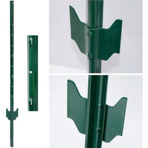 CLÔTURE - GRILLAGE PIQUETS de métal pour soutenir grillages pour jard