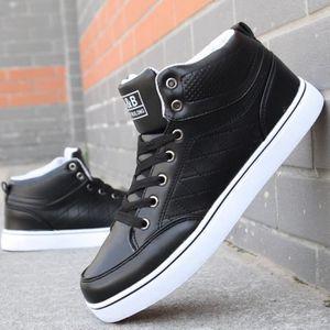 SHELOVEIT® Bottes dhaute Top Mens Sneakers casual chaussu...  Noir - Achat / Vente basket  - Soldes* dès le 27 juin ! Cdiscount